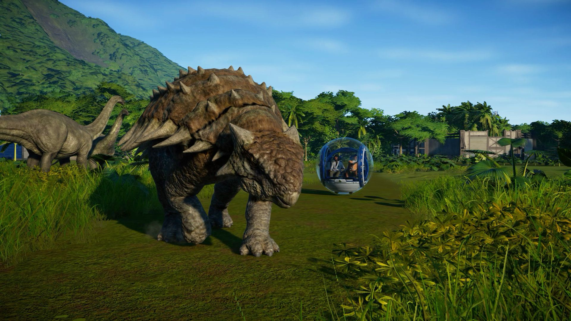 jurassic world video game trailer reveals the simcity