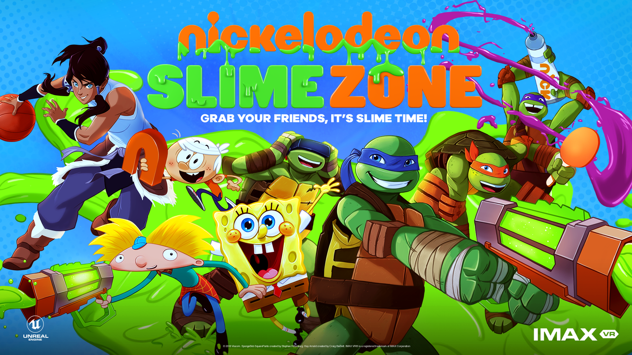 """nickelodeon slimezone logo - Go into the Wild, Colorful World of Nickelodeon with Their New VR Experience, """"SlimeZone"""""""