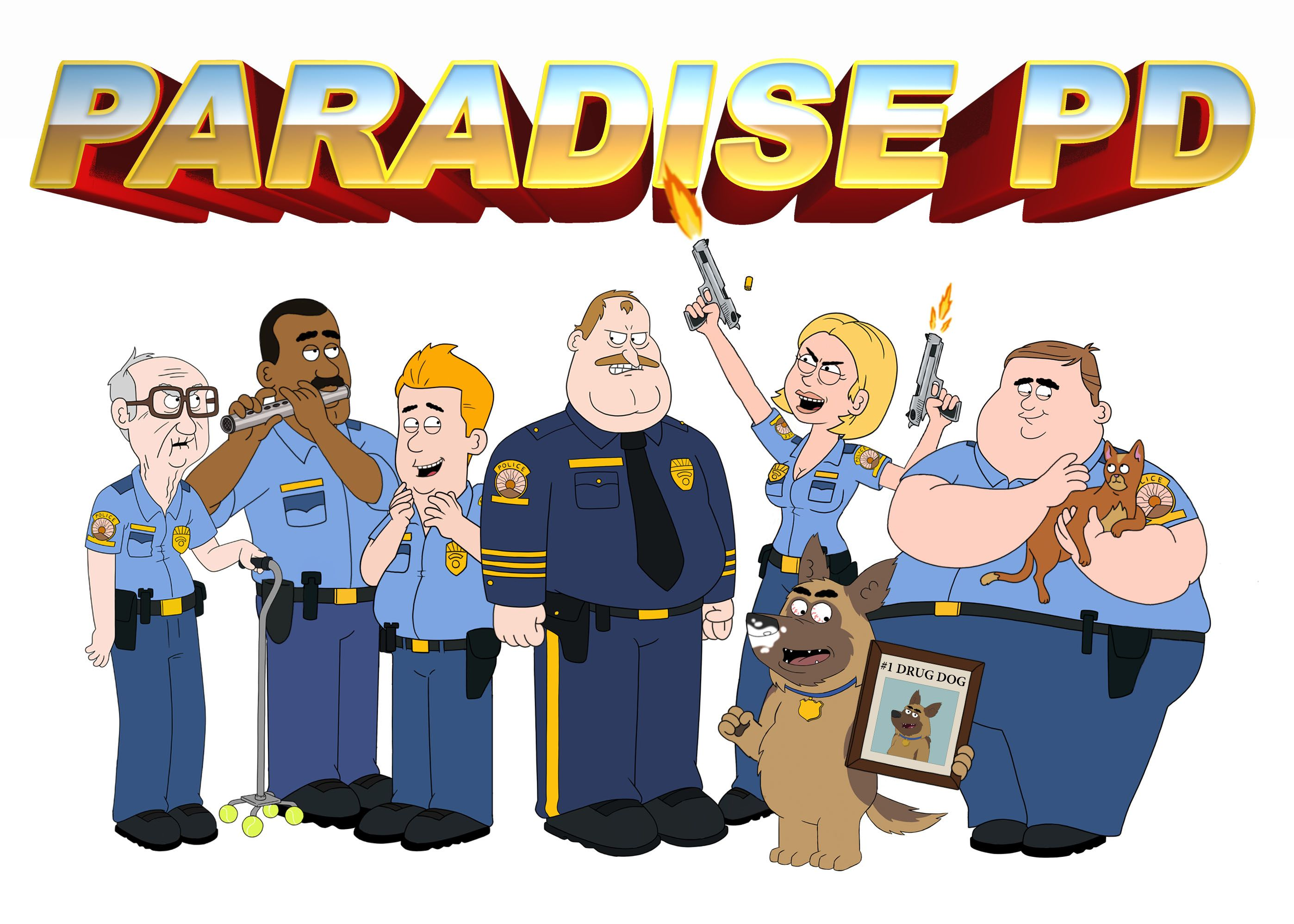 Paradise Pd Brickleberry Creators New Series Comes To Netflix