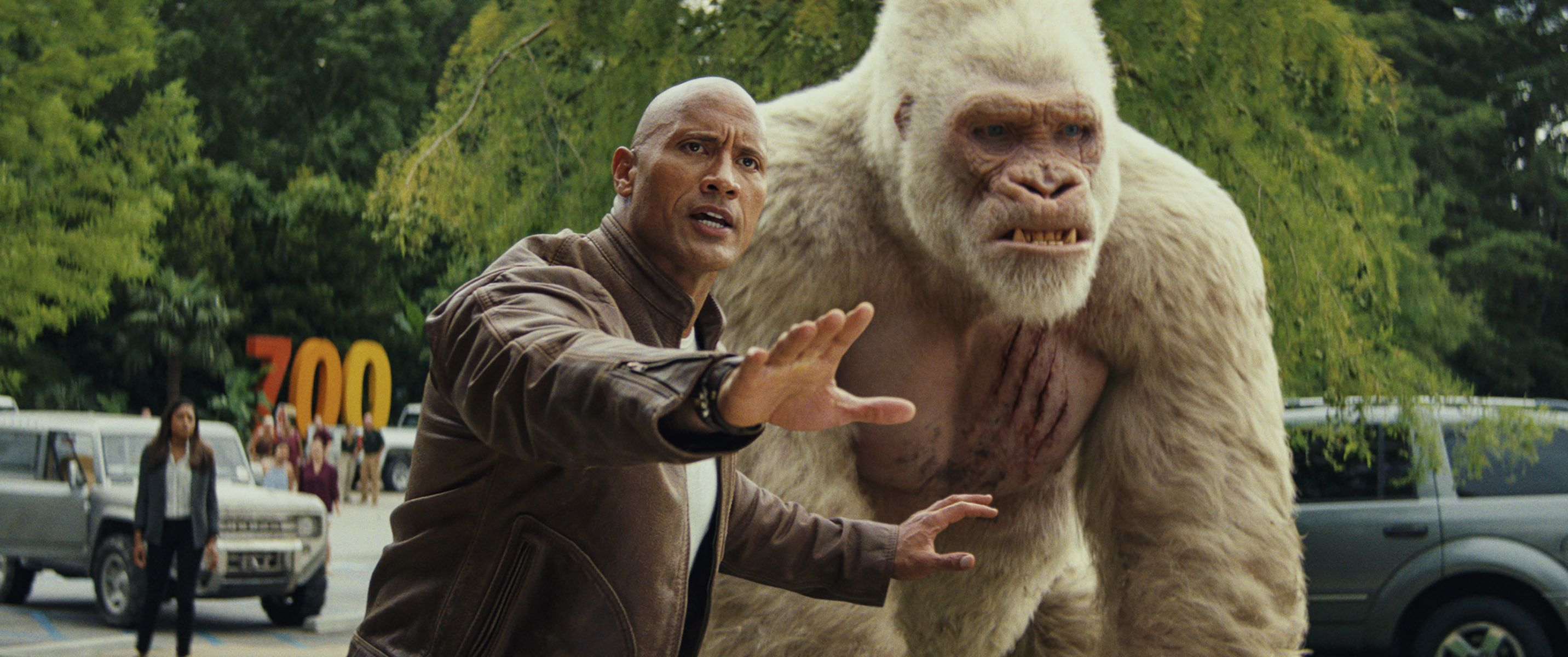 Rampage Review Dwayne Johnson Upstaged By A Giant Gorilla