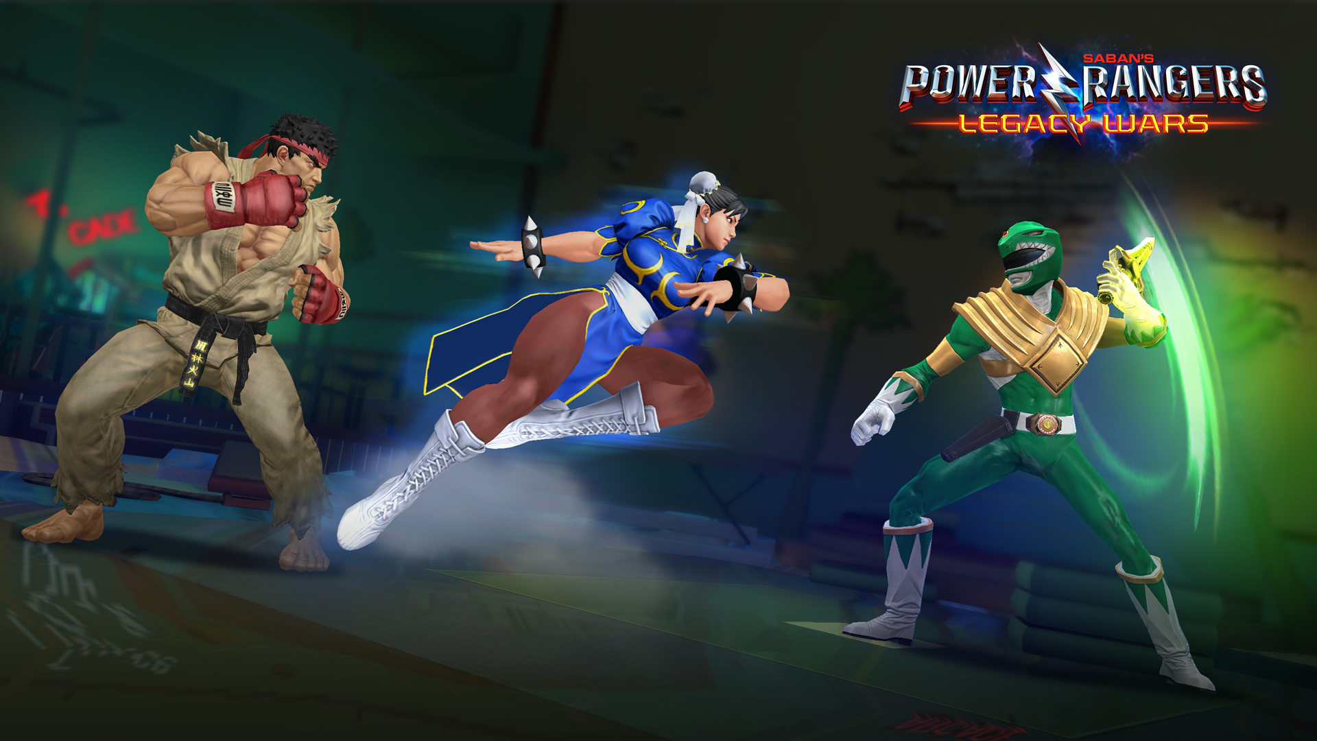 Power Rangers Legacy Wars Mobile Game Adds Street Fighter