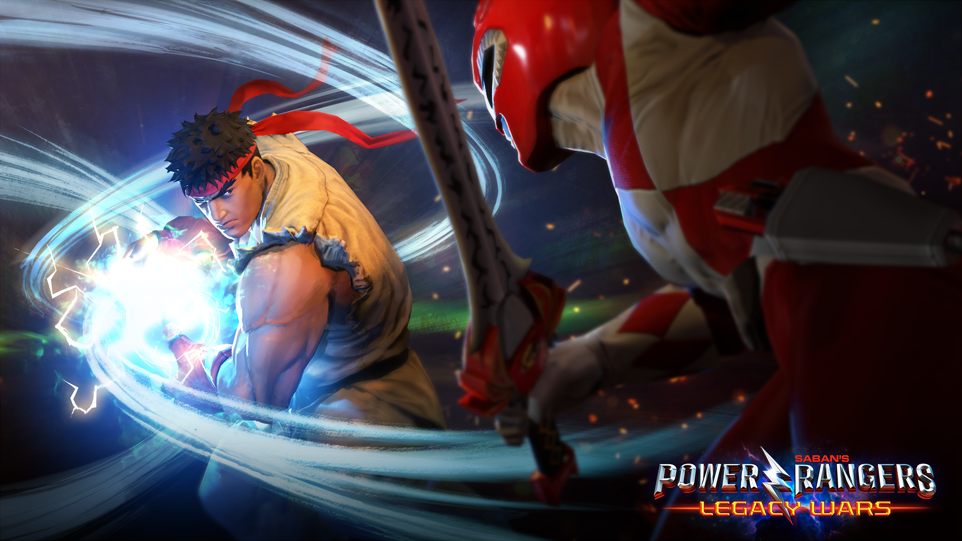 Power Rangers: Legacy Wars Mobile Game Adds Street Fighter