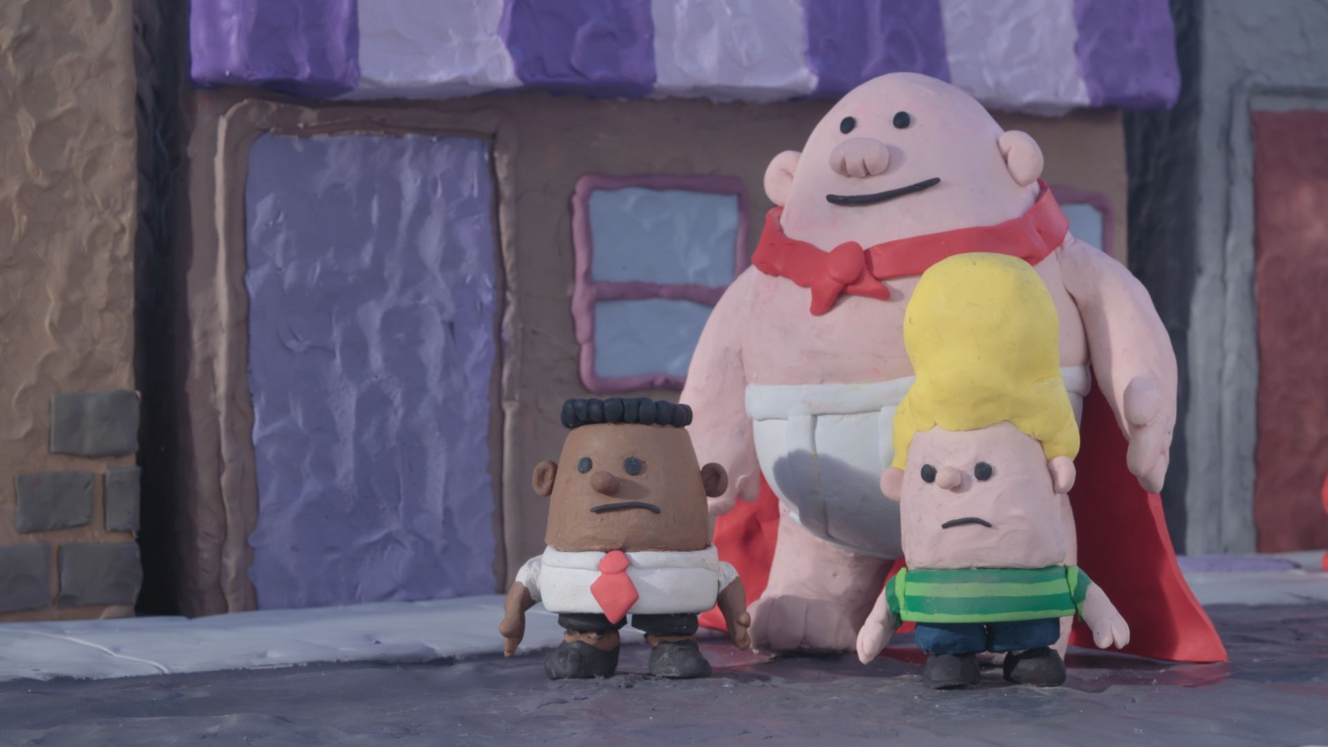 captain underpants netflix series clip plays with animation styles