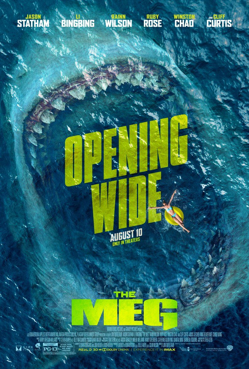 The Meg New Poster For The Super Shark Movie Opens Wide
