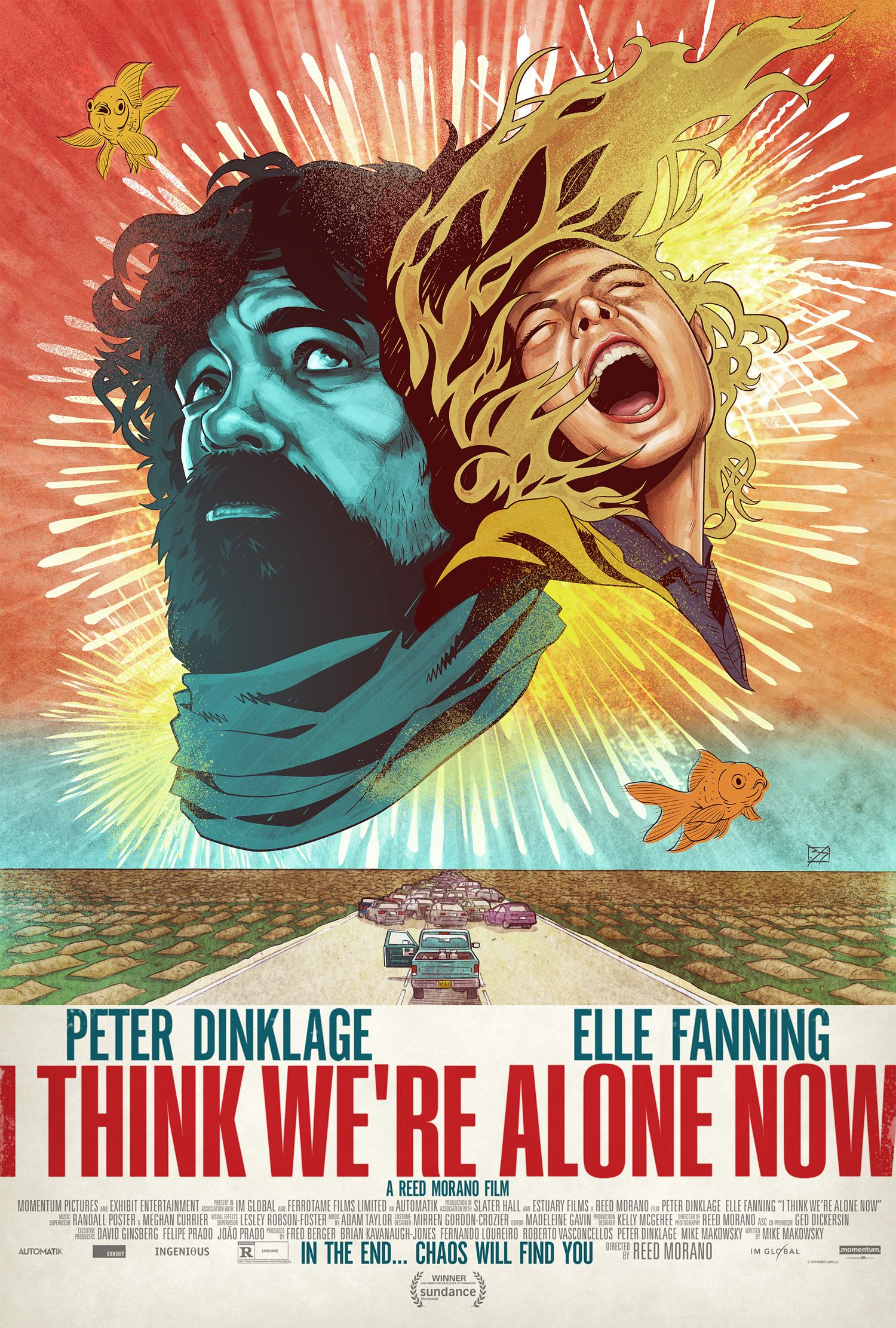 I Think We're Alone Now Poster: Dinklage and Fanning Face ...