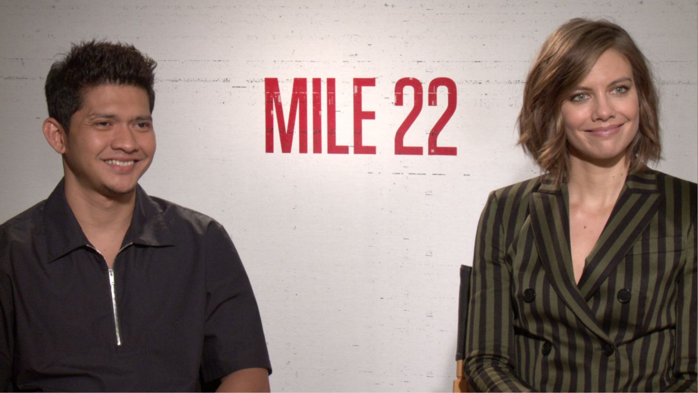 lauren cohan and iko uwais talk mile 22 and answer some