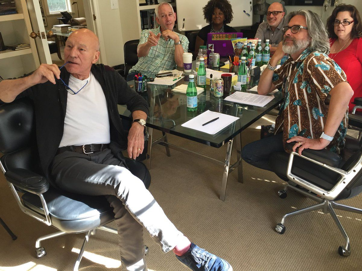 Patrick Stewart Teases Writers Room of New Star Trek Series