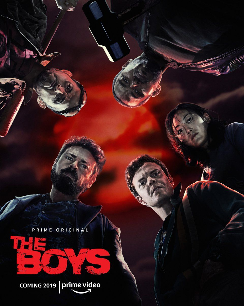 the boys tv series poster conjures the comics for the amazon show