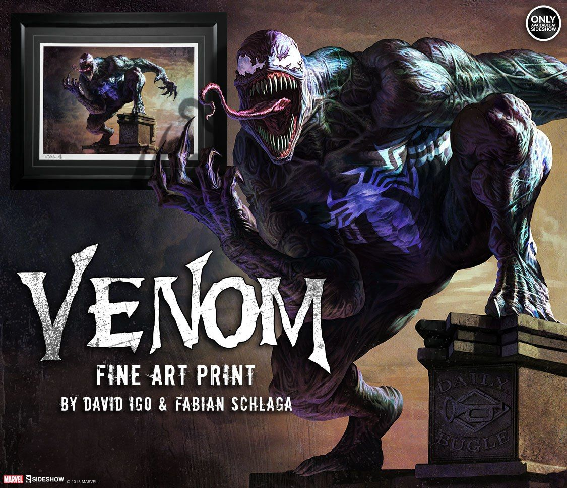 Venom 1:1 Scale Life-Sized Bust by Sideshow Collectibles is