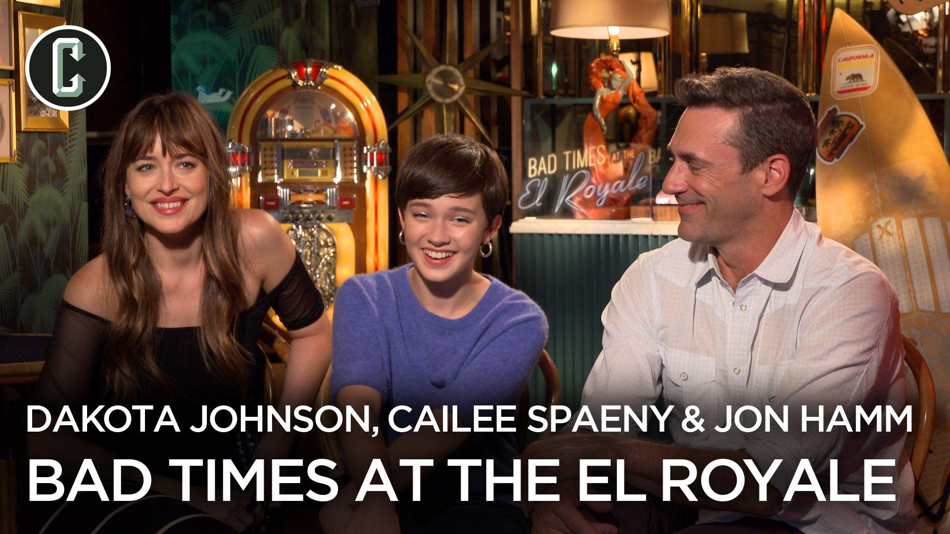 Dakota Johnson Jon Hamm Cailee Spaeny Talk Bad Times At The El
