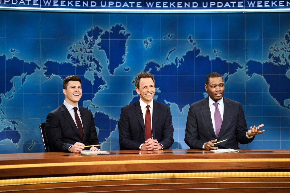 """Watch: Seth Meyers Brings """"Really?"""" Back to 'Saturday Night Live' Thanks to Kanye West"""