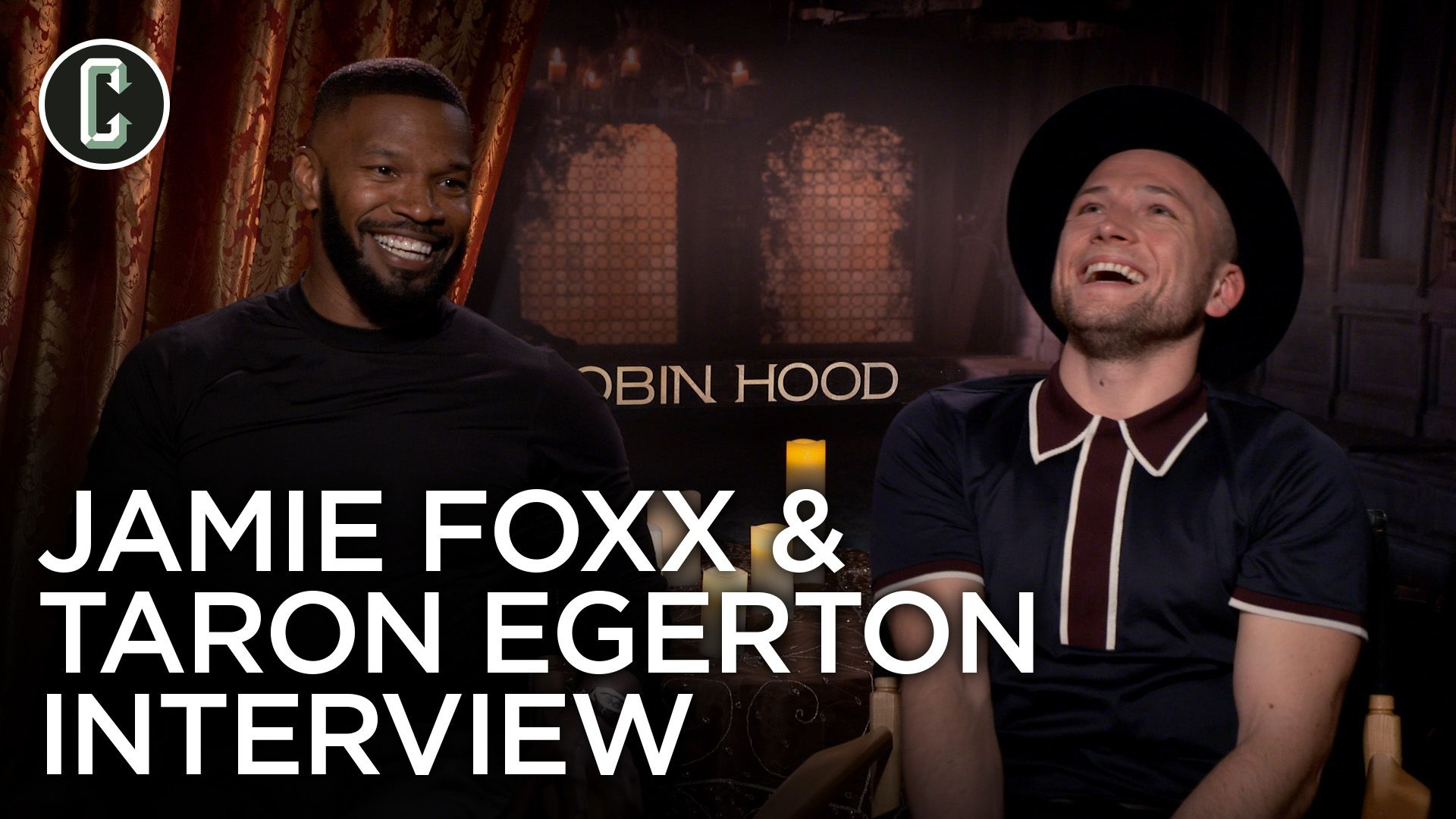 taron egerton and jamie foxx on robin hood and rocketman