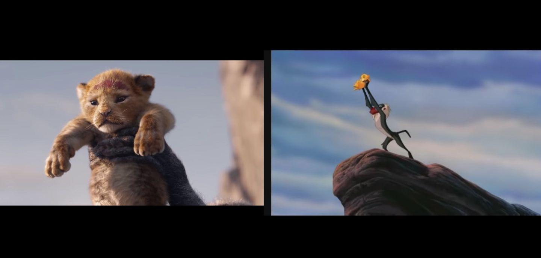 the lion king trailer comparison video reveals live