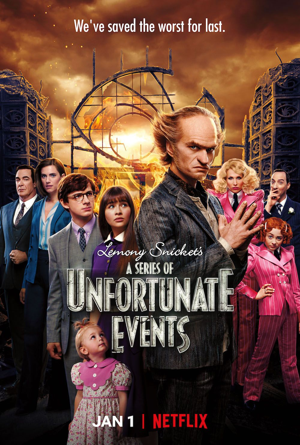netflix series poster unfortunate events season january collider