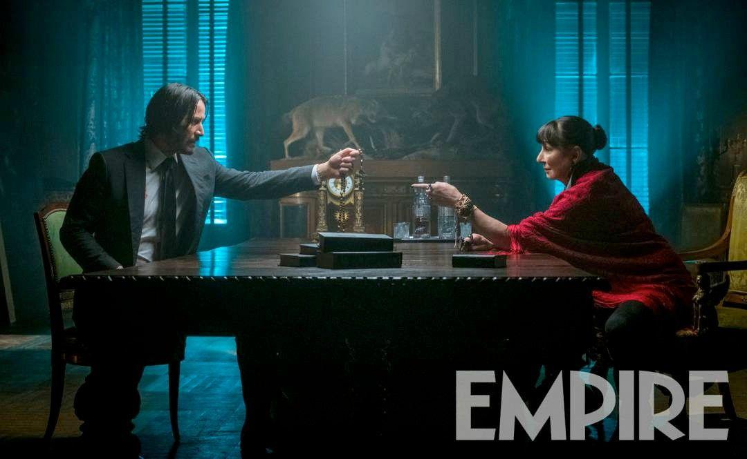 John Wick 3 Image Reveals Anjelica Huston As The Director Collider