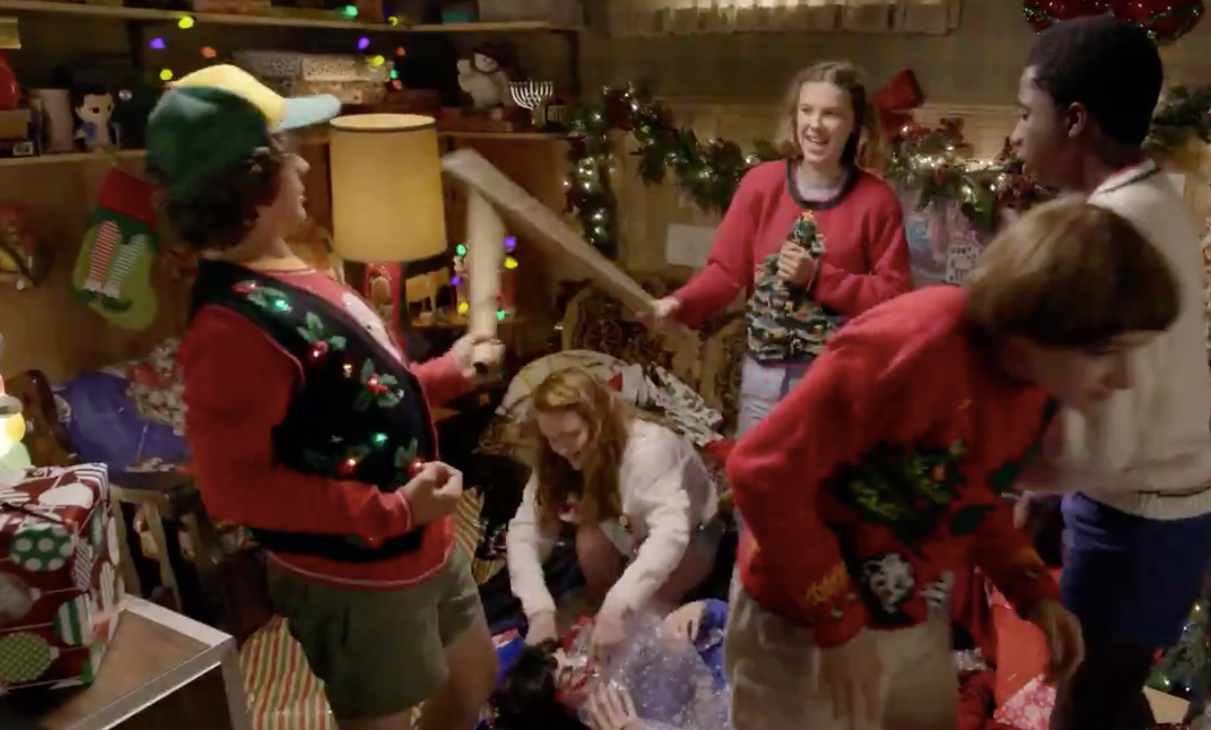 Watch Stranger Things Kids Wrap Presents For Fans And