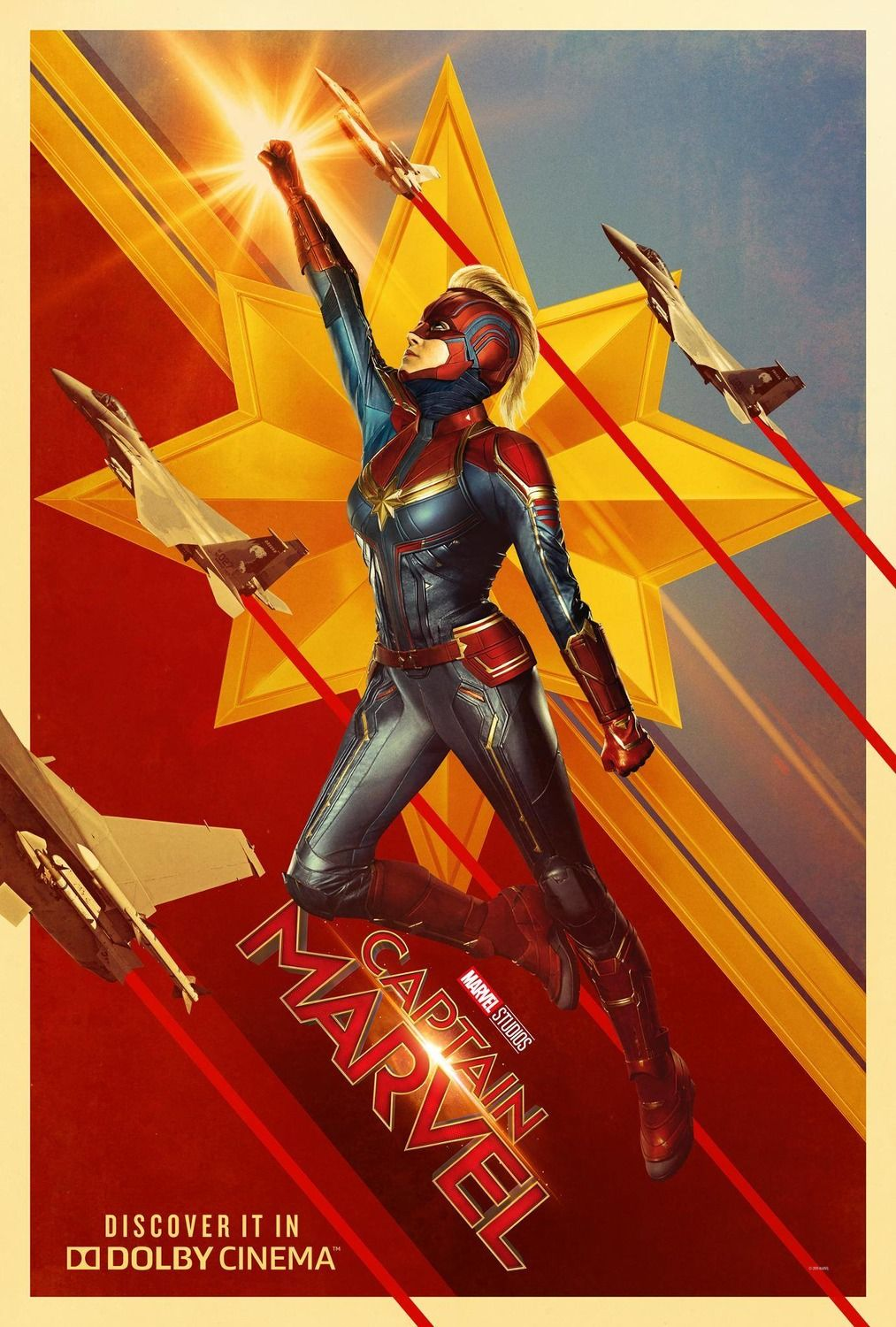 new captain marvel posters show off carol danvers u0026 39  costume