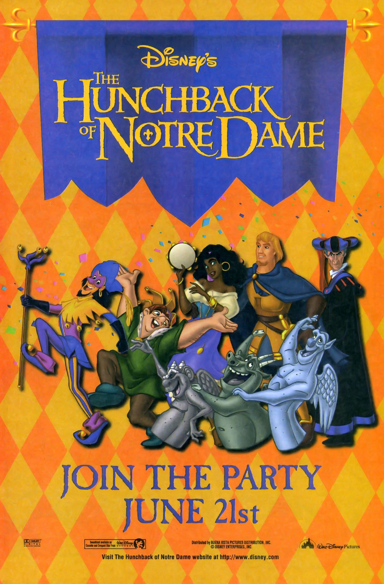 The Hunchback Of Notre Dame 1996 Poster