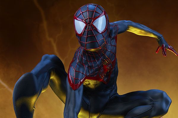 Exclusive Behind The Scenes Images Of Sideshow S Miles Morales