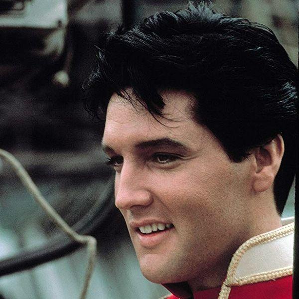 Elvis Presley during filming