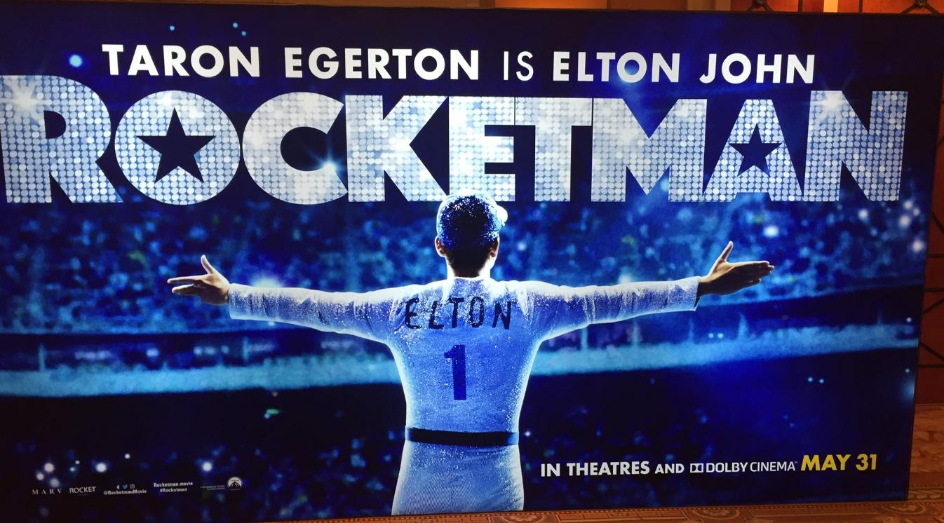 ผลการค้นหารูปภาพสำหรับ rocketman film poster