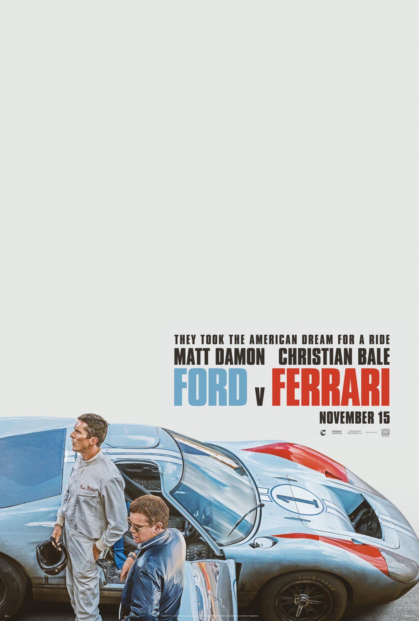 Ford V Ferrari Ferrari Ford Le Mans
