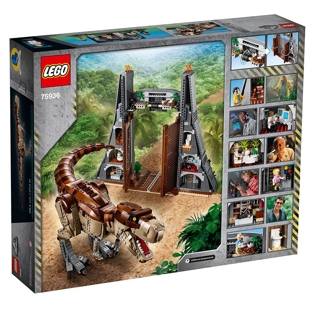 LEGO Jurassic Park Set of the Front Gate Contains Over 3,000