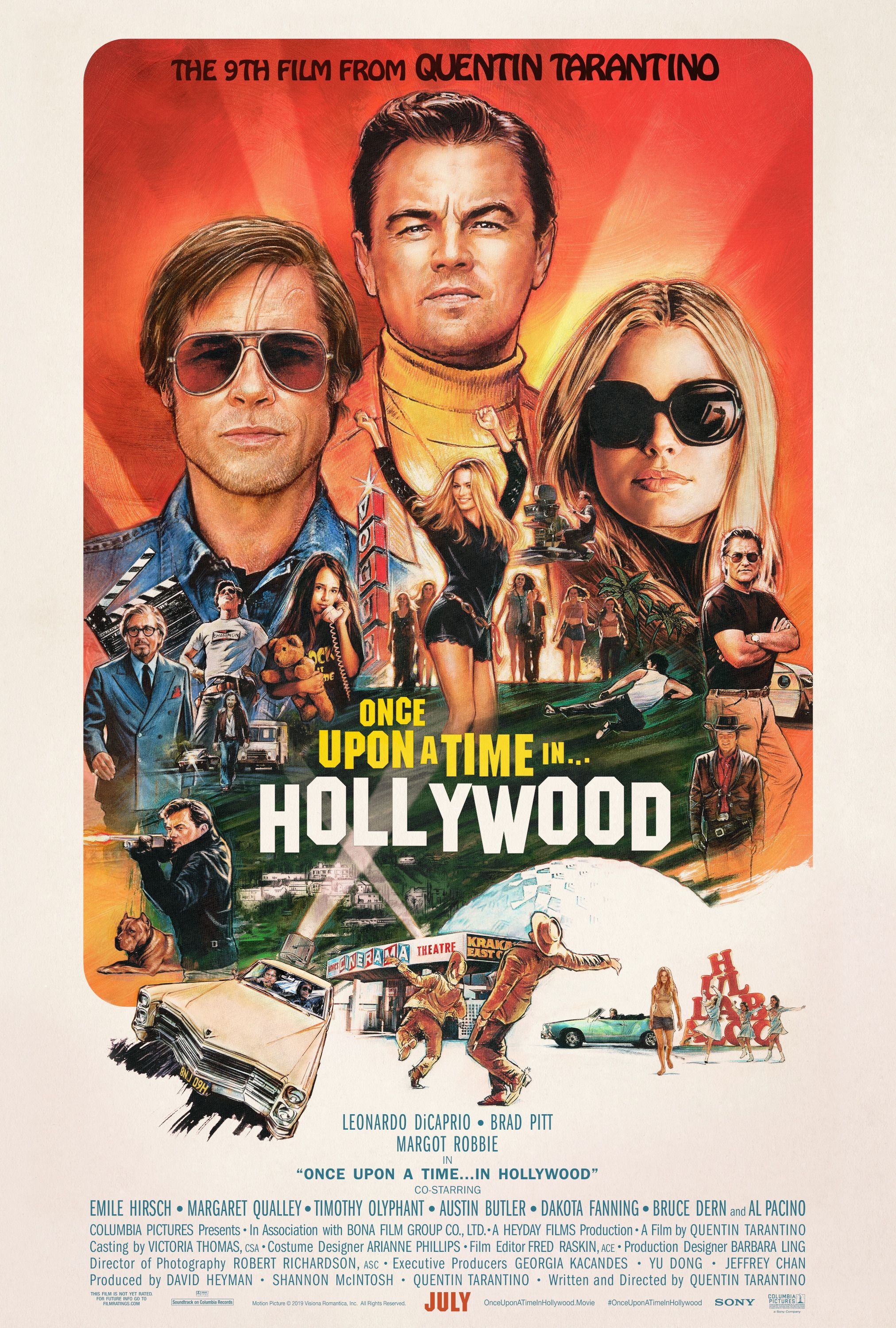 Image result for once upon a time in hollywood hd poster