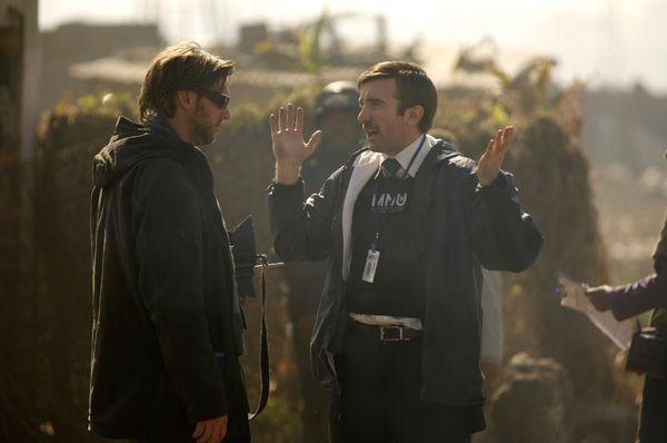 District 9 movie image Sharlto Copley and Neill Blomkamp