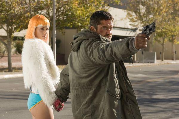 Gamer movie image Gerard Butler and Amber Valletta