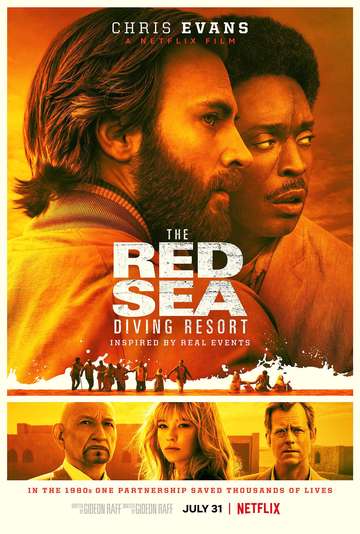 Chris Evans' Beard Shines in Red Sea Diving Resort Trailer for