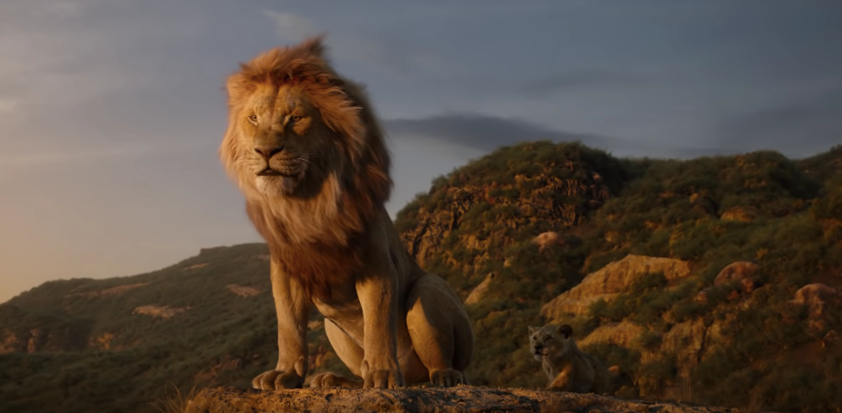 The Lion King Remake Mufasa Falling Off The Cliff Is