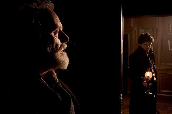 The Wolfman movie image Anthony Hopkins and Benicio Del Toro