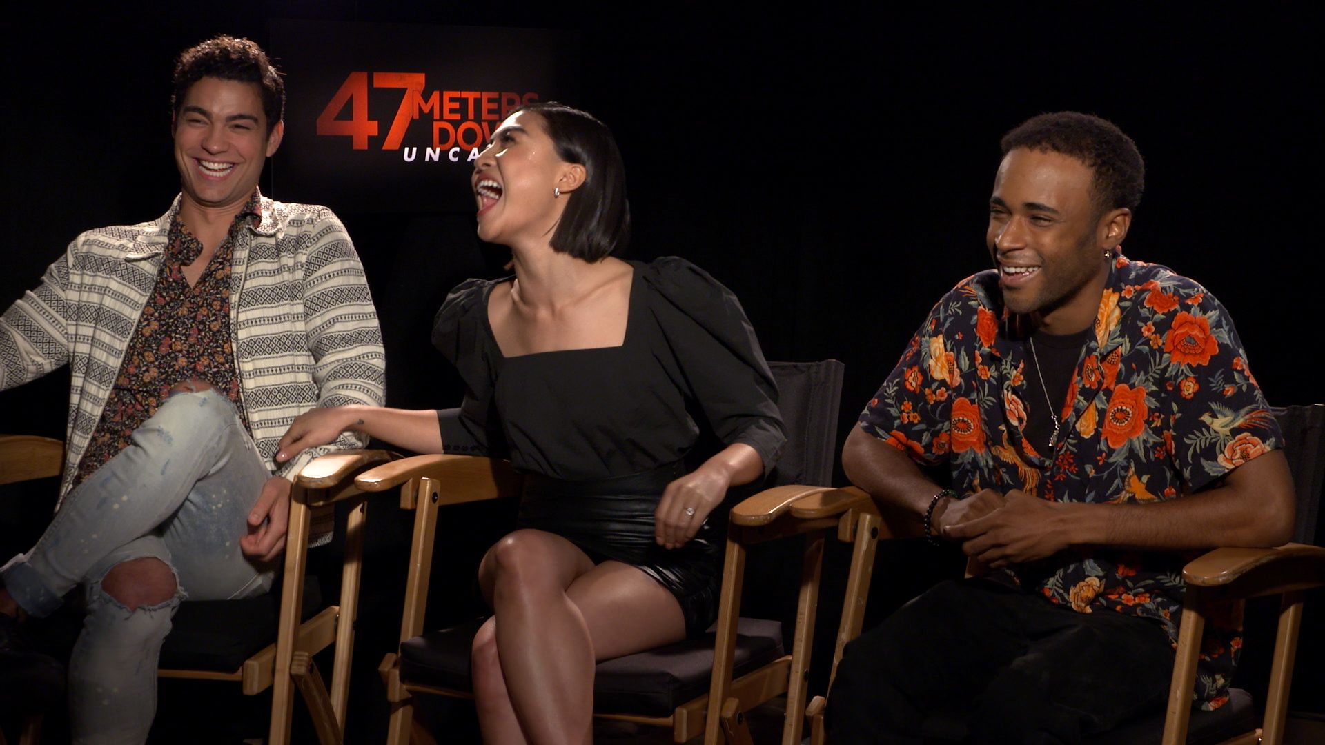 Brianne Tju, Davi Santos & Khylin Rhambo on '47 Meters Down: Uncaged'