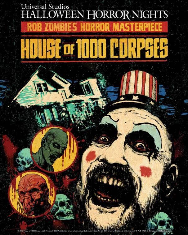 Universal Studios Halloween Horror Nights 2019.Halloween Horror Nights 2019 Sets House Of 1000 Corpses Maze Collider