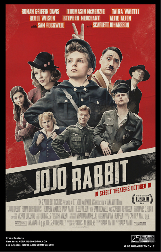 Image result for Jojo rabbit poster