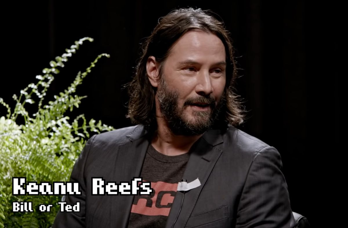 Keanu Reeves Barely Tolerates Zach Galifianakis in Full 'Between Two Ferns' Interview