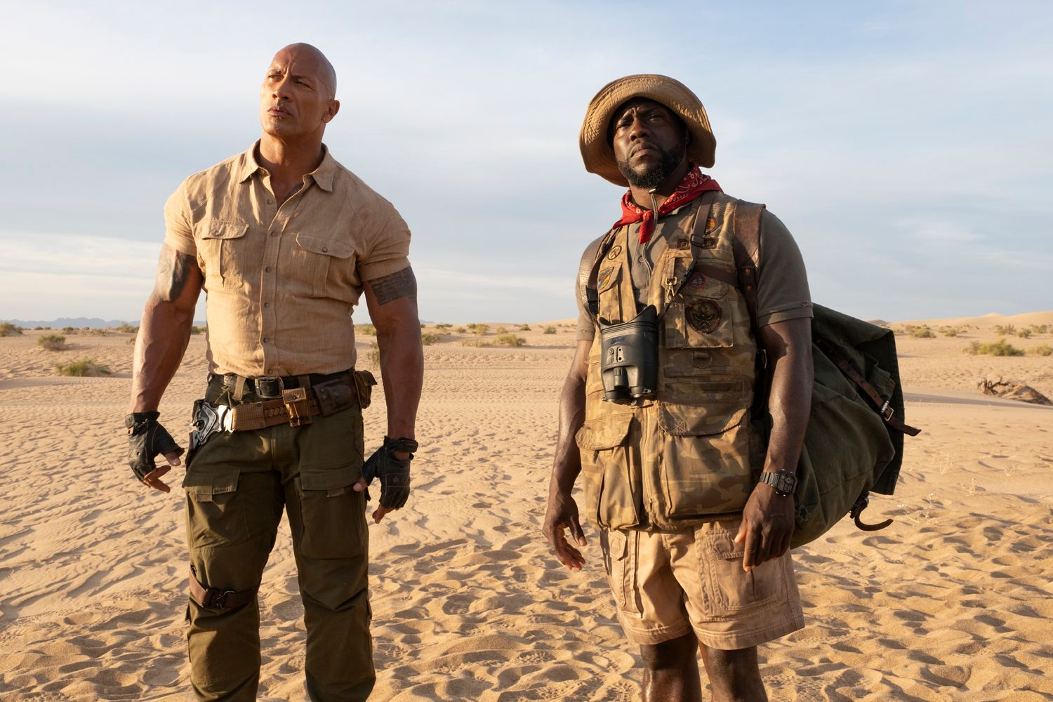 jumanji  the next level review  johnson and hart play old men