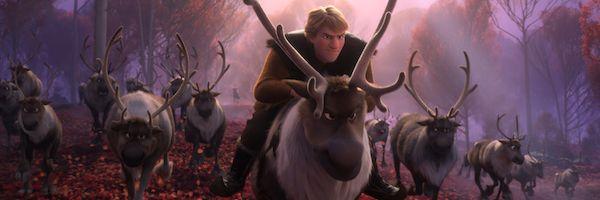 Kristoff rides his reindeer Sven in an image from Disney's Frozen 2