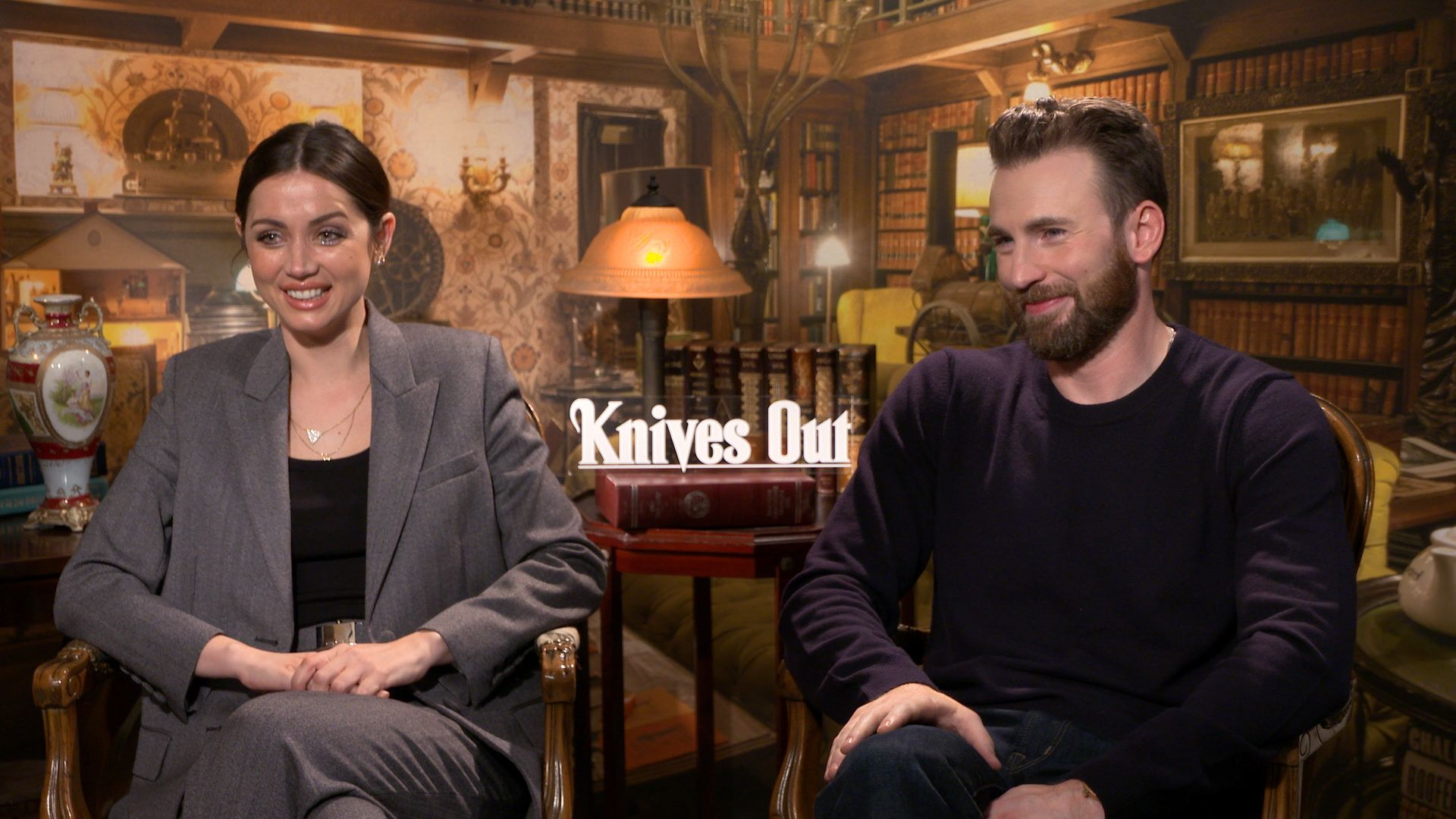 Knives Out: Chris Evans and Ana de Armas on the ...