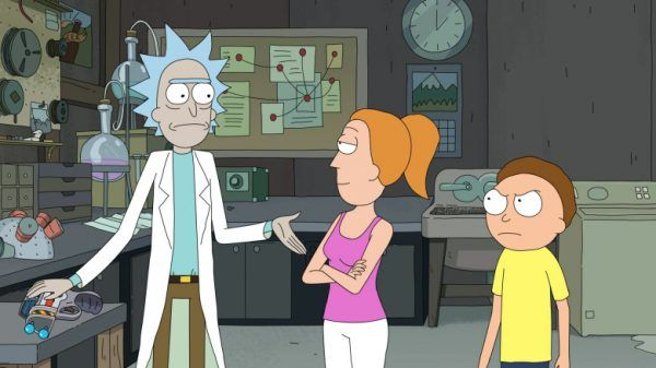 Rick and Morty: Rick, Summer, and Morty.