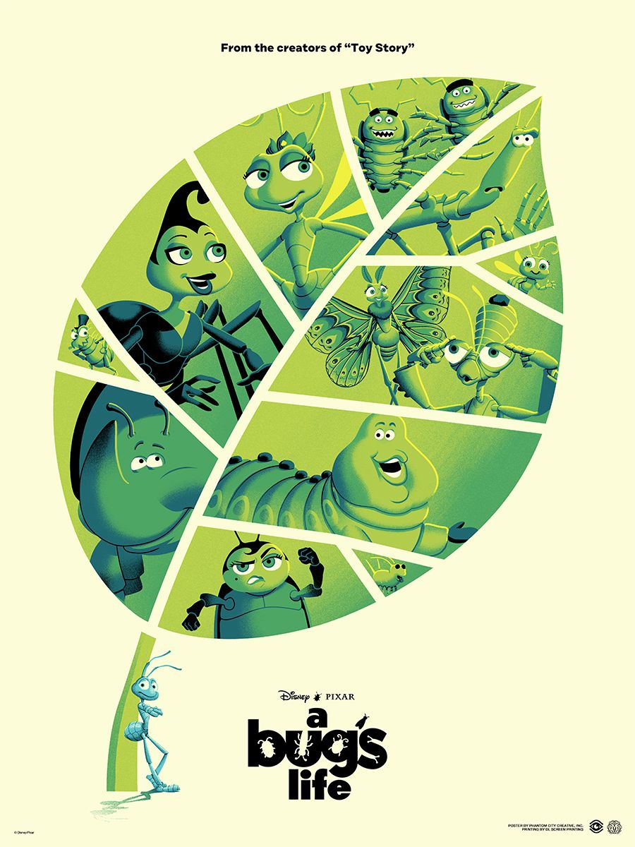 Pixar Mondo Posters For A Bug S Life And Incredibles 2 Tease Gallery Show Collider