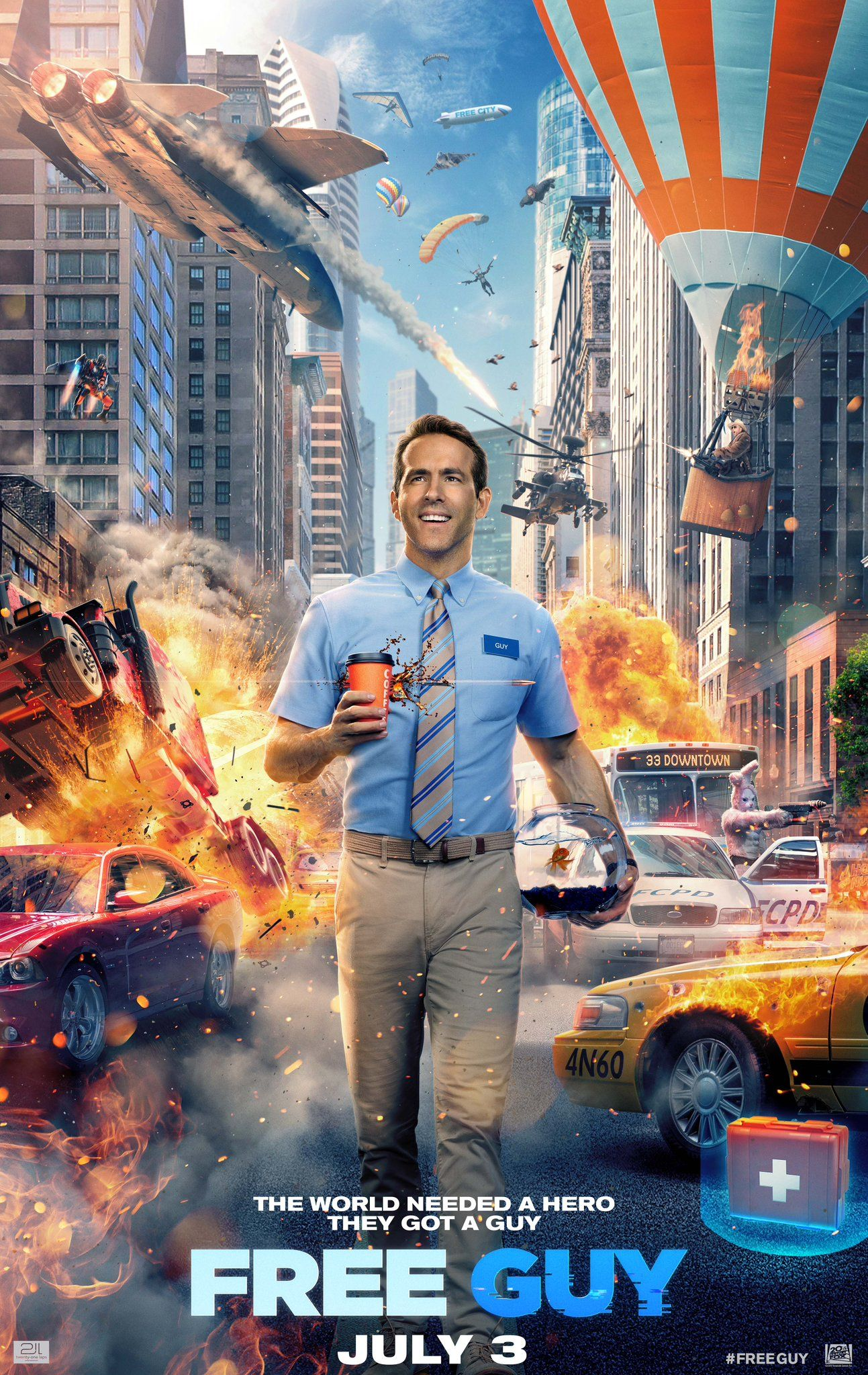 New Free Guy Poster Sees Ryan Reynolds Embrace Life in a