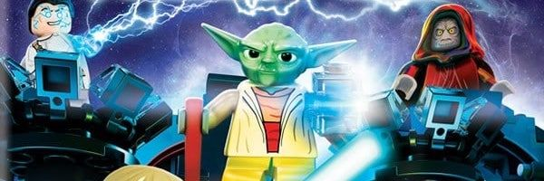 Yoda from the LEGO Star Wars series.