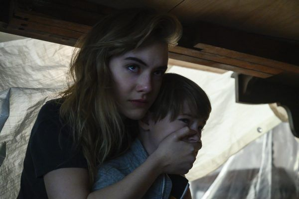 Emilia Jones as Kinsey Locke and Jackson Robert Scott as Bode Locke.