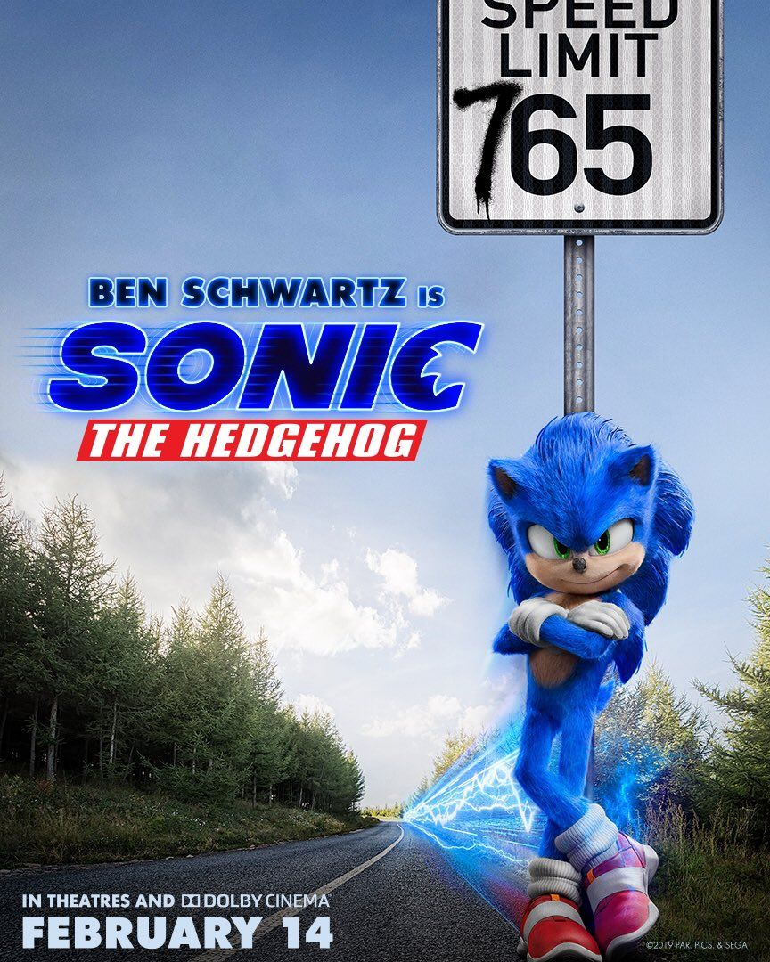 Sonic The Hedgehog Poster Has No Regard For Traffic Laws Collider