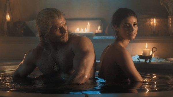 the-witcher-bathtub-anya-chalotra-henry-cavill
