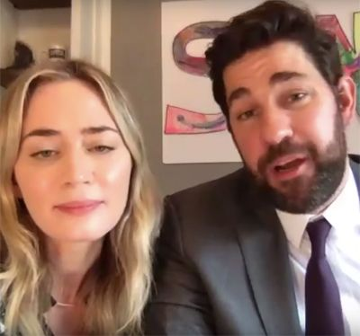 Watch: John Krasinski and Emily Blunt Reunite 'Hamilton' Cast on 'Some Good News' Episode 2