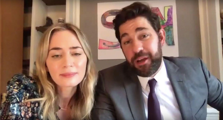 John Krasinski Emily Blunt Reunite Hamilton Cast On Some Good News Collider