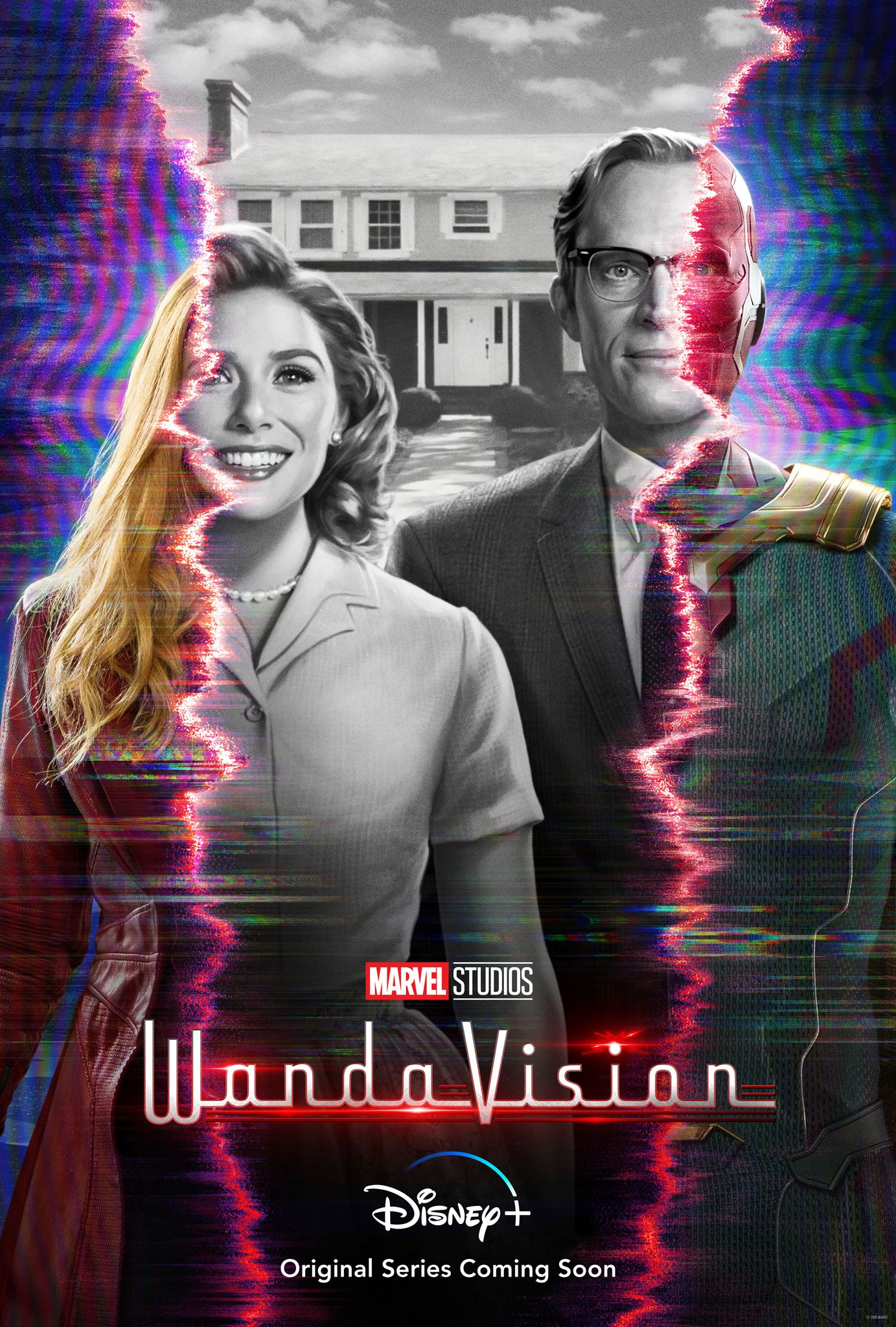 Wandavision Poster New Images Reunite Scarlet Witch And Vision Collider